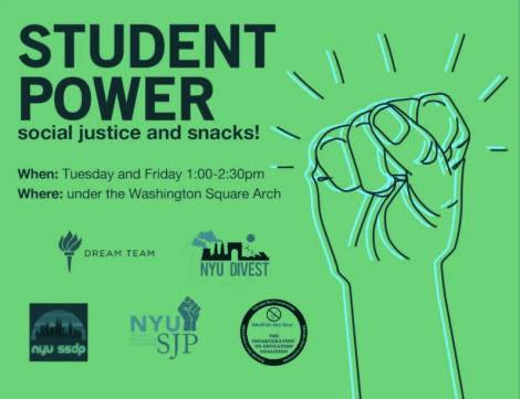 Student Power WW Event Poster Friday